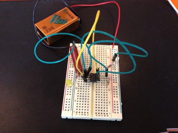 Basic 555 Timer LED Flasher Circuit