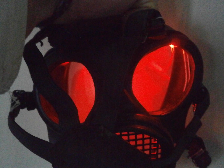 Mask; Red Glowing Eyes