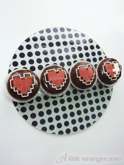 Zelda Heart Container Cupcakes