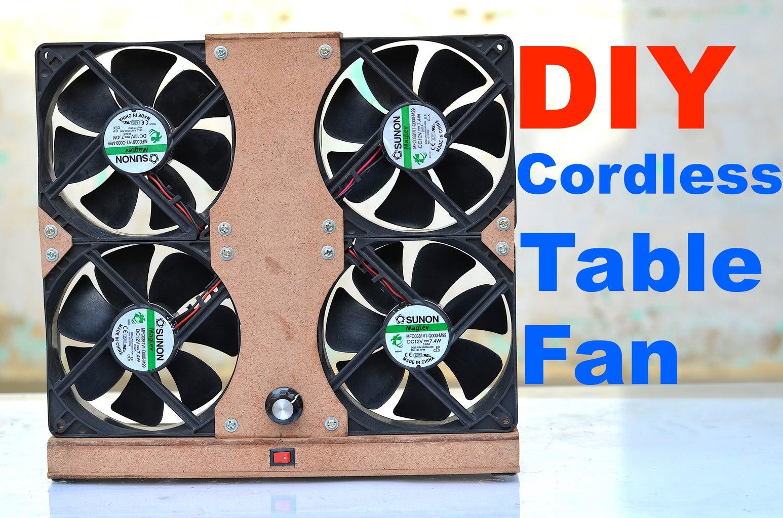 DIY Cordless Table Fan From Scrap