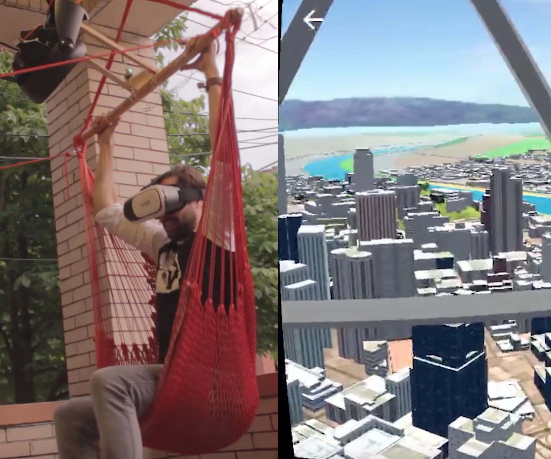 Virtual Reality Flying Machine (Arduino)
