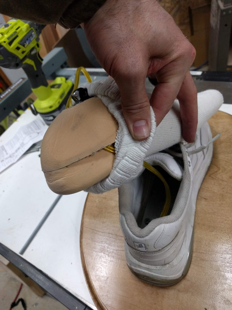 Step 5: Route the Wire Up the Leg
