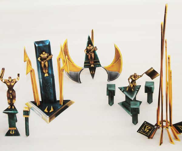 UT Trophies Papercraft