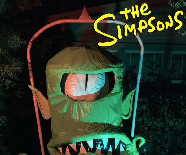 Kang From the Simpsons Yard Decoration
