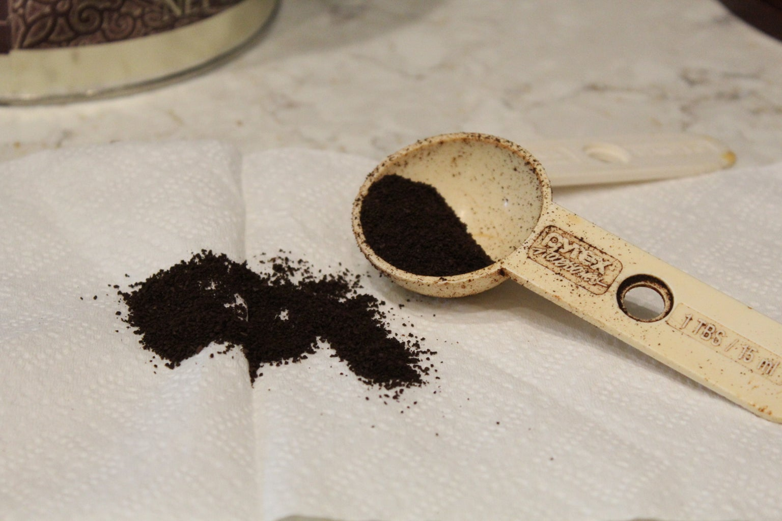 Add Instant Coffee Grounds