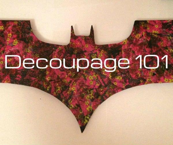 Decoupage Bat Sign