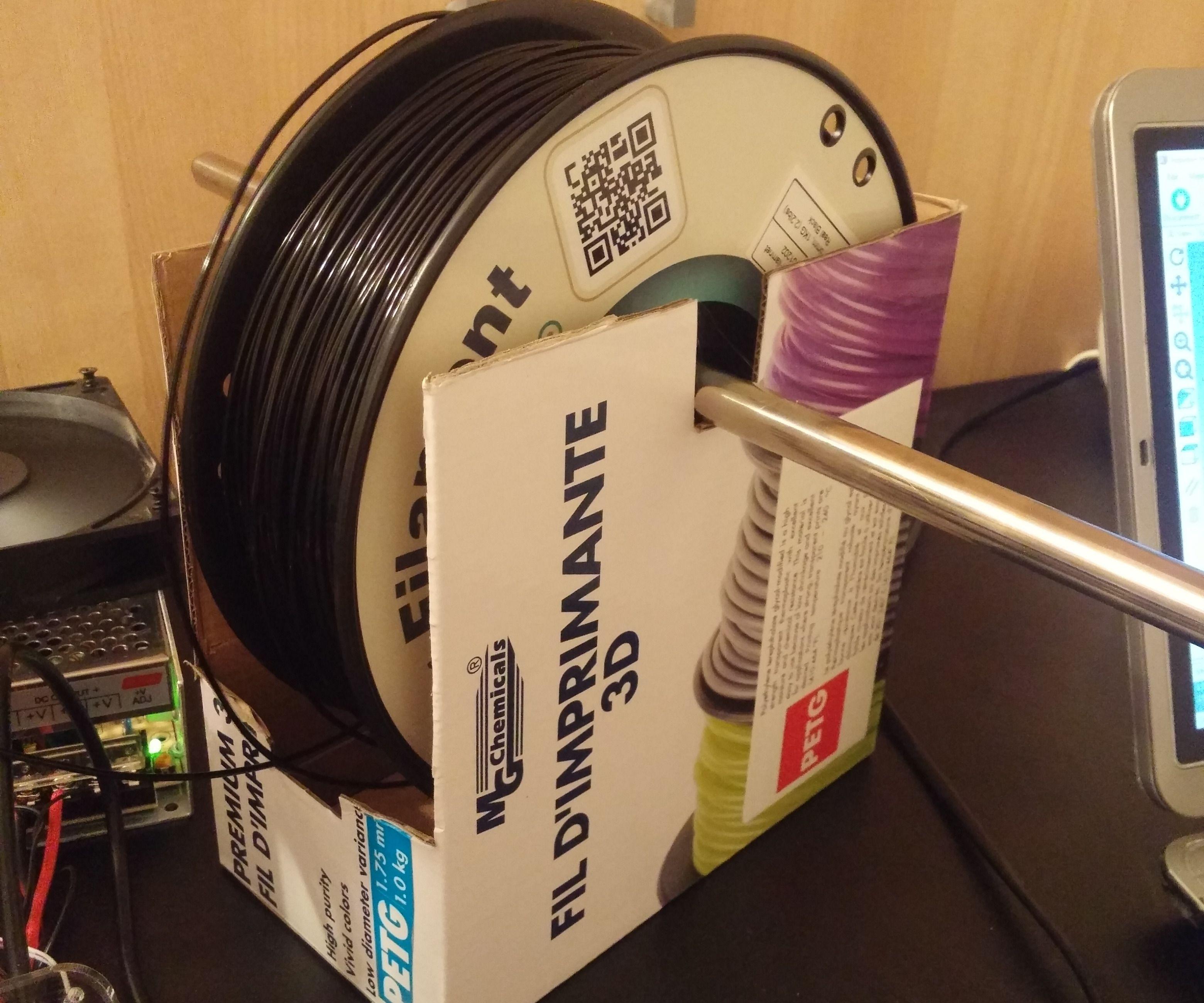 Life hack: 30 second 3D printer filament spool