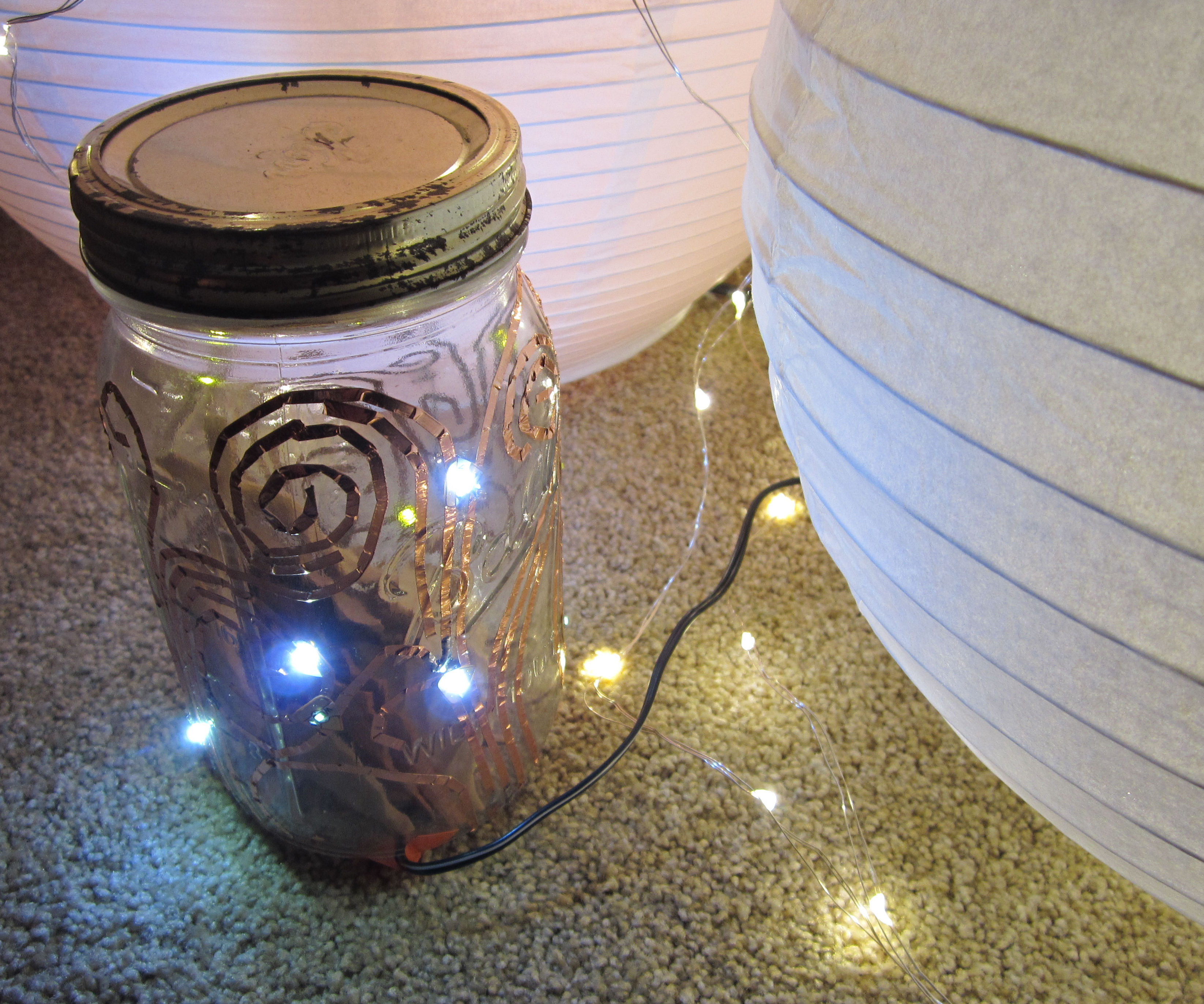 DIY Fairy Light Mason Jar w/Chibitronics