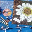 aerografia flor de margarita