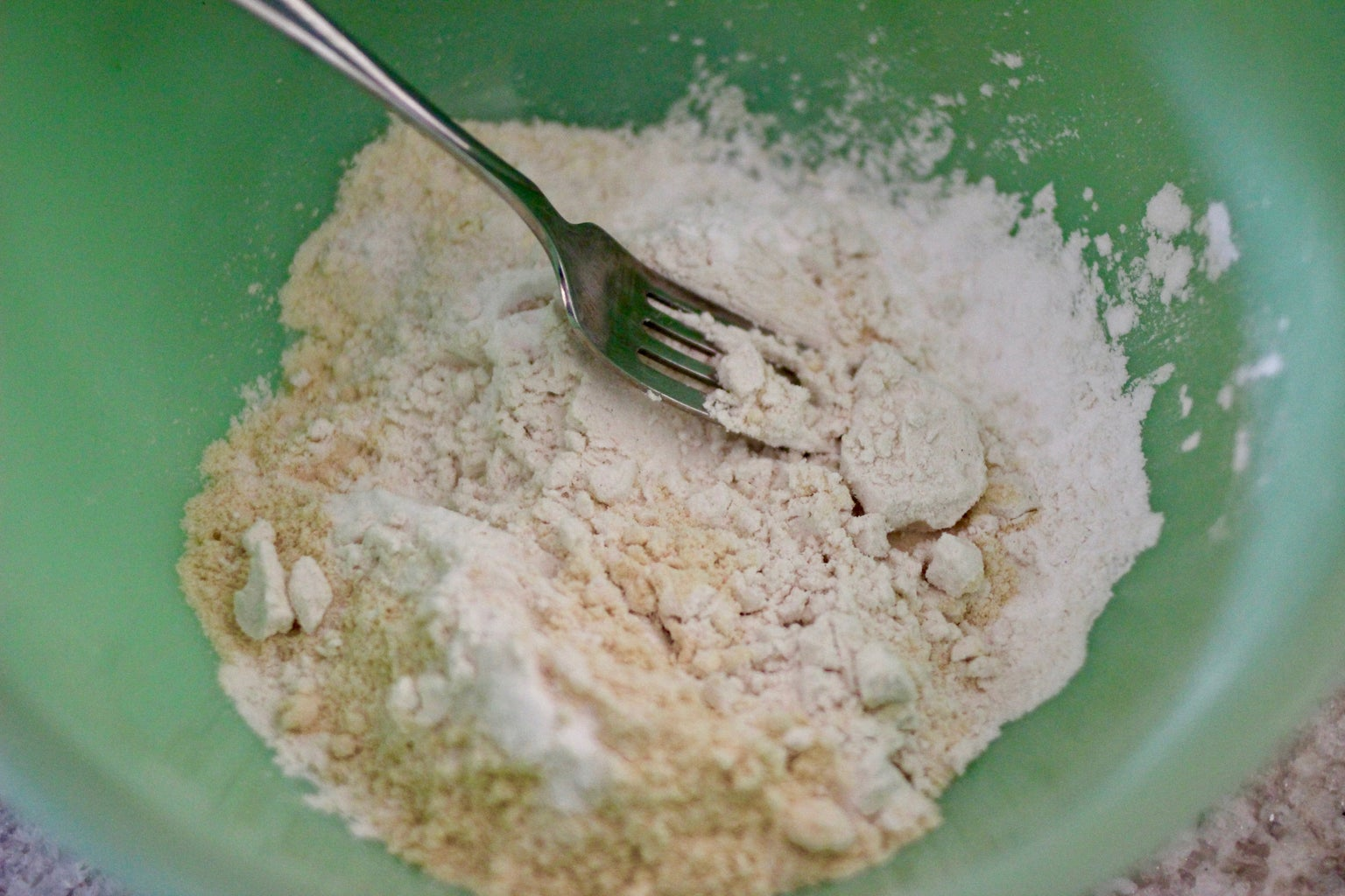 Pour Dry Ingredients Into a Large Bowl.