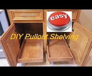 DIY Pull-out Sliding Shelving