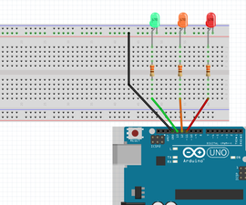 Arduino Traffic Light LEDs Circuit