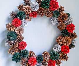 DIY Pine Cone Wreath From Pine Cones Found in Nature