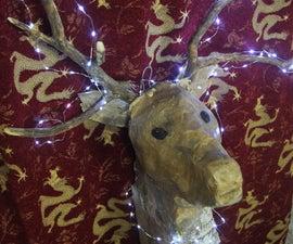 Cardboard Deer's Head Wall Light