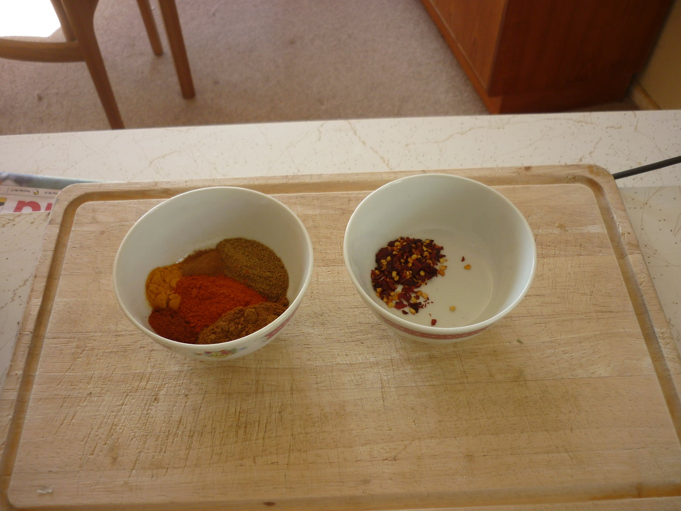 Frying Spices for the Sauce Base