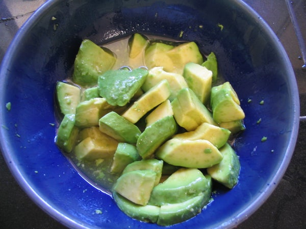 Avocado With Agave and Lime