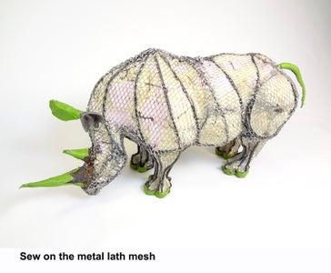 Sew on the Metal Mesh