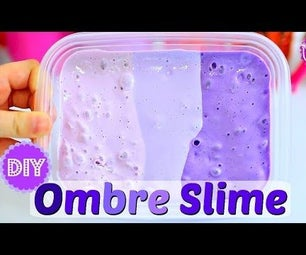 DIY OMBRE SLIME! GORGEOUS INSTAGRAM SLIME! NO BORAX NEEDED!