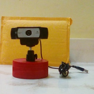 Peanut Butter Lid Mini Tripod  for Webcam and Small Cameras