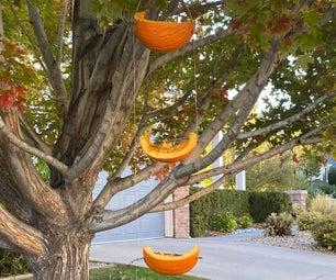 Pumpkin Bird and Squirrel  Feeder