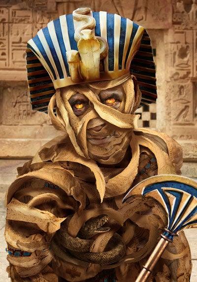 Photoshop a Fantasy Mummy Axe