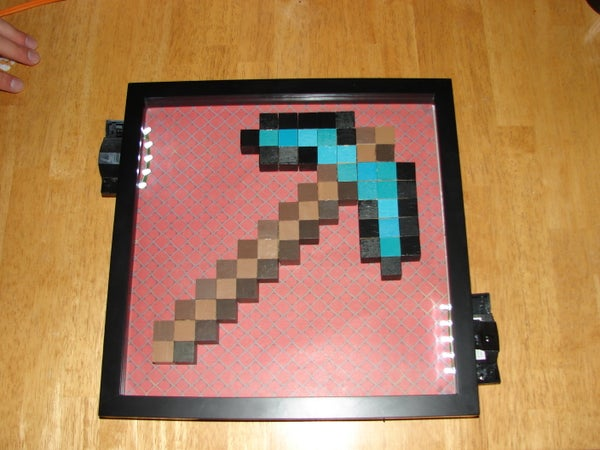 How to Make a Minecraft Pickaxe Lamp!