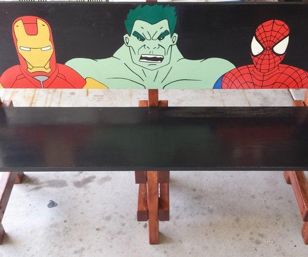 Superhero Kids Bench