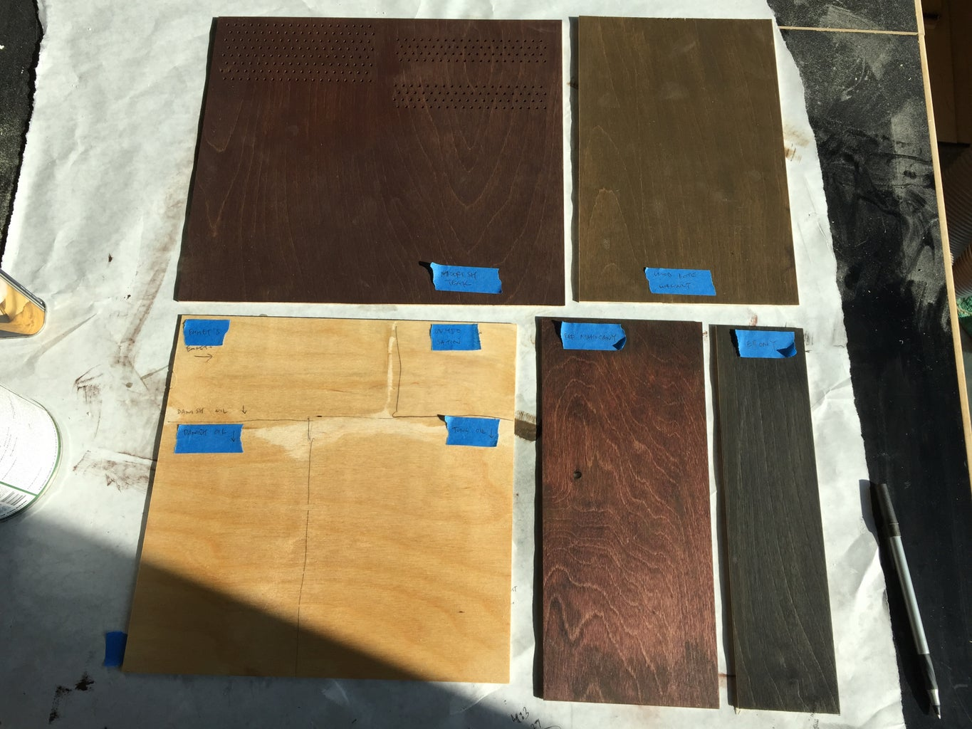Large Series: Wood Staining