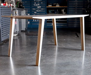 Slipstream Table (Experiments in Aluminum and Plywood Lamination)