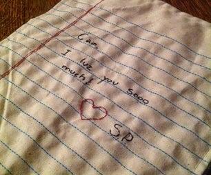 Sewn Love Note