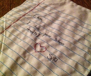 Sewn Love Note