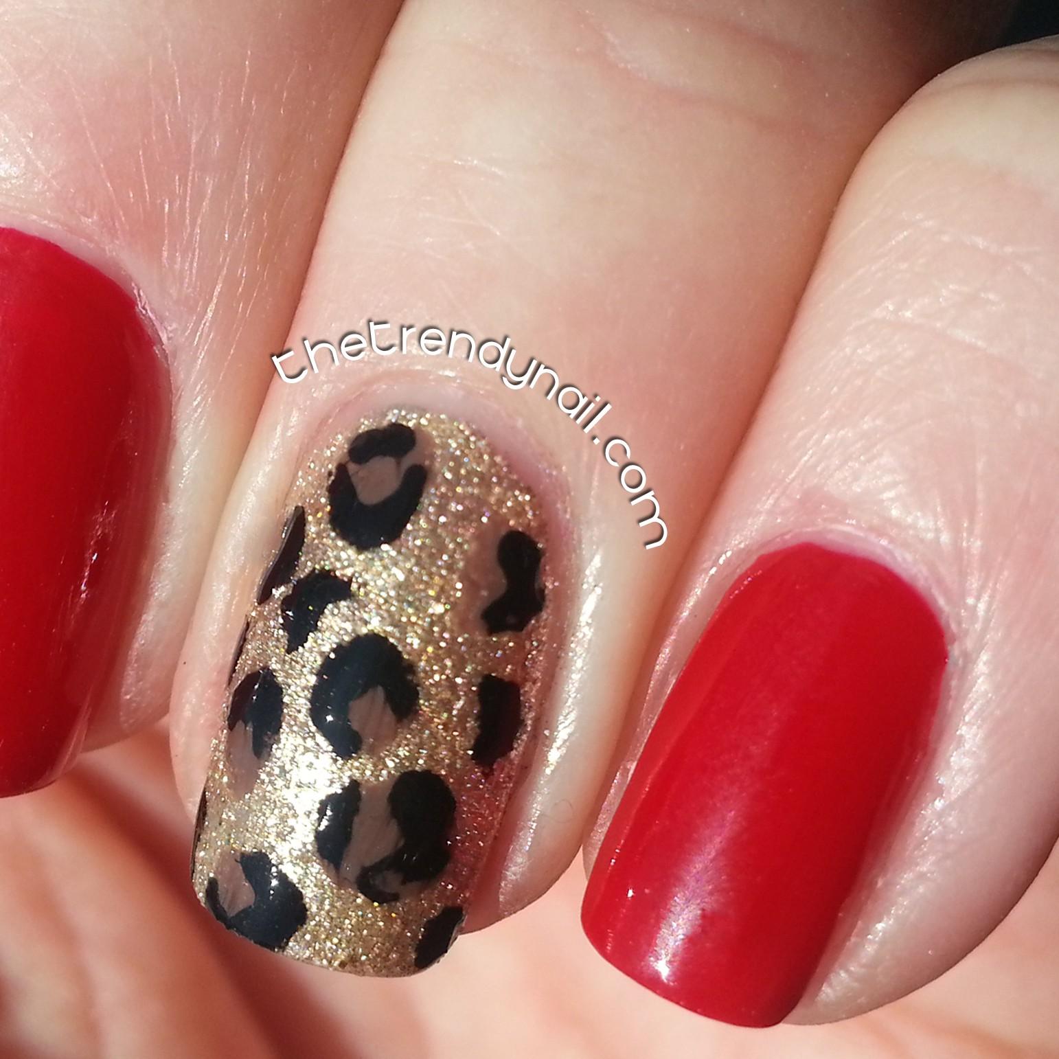 Trendy Nail- Animal Print Accent Nail