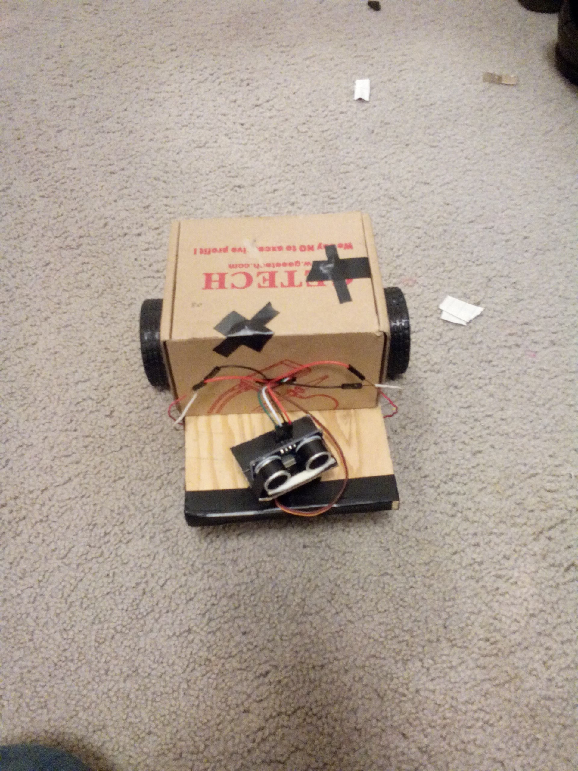 Arduino obstacle avoiding robot