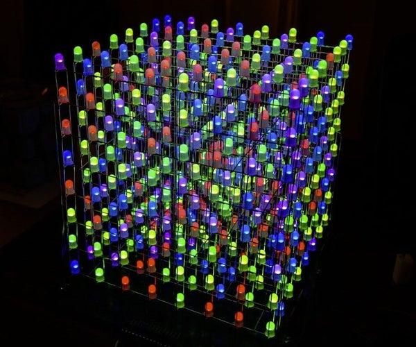 8X8X8 3D RGB LED Cube