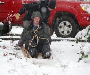 Homemade Snow Sled
