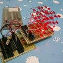 Expandable LED cube 4x4x4 using 8051 with program example