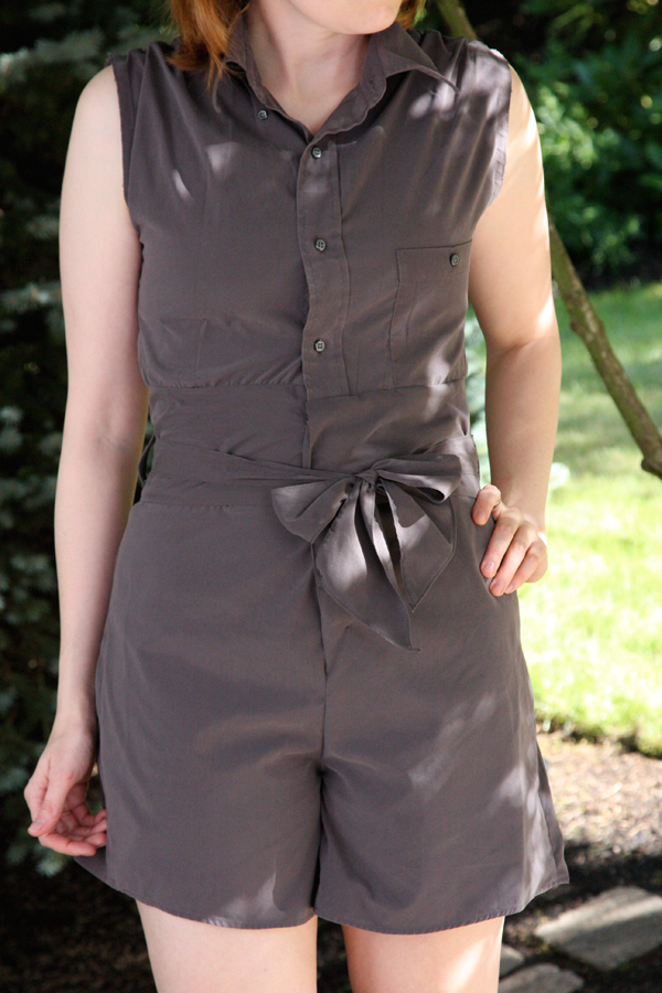 How to Make a Romper from a Men's Button-Down Shirt