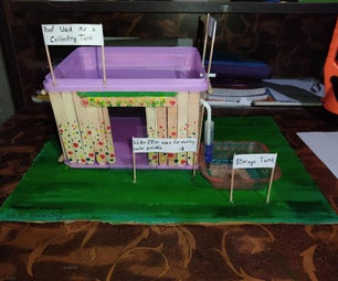 Simple and Working Rainwater Harvesting Model Using Waste Materials