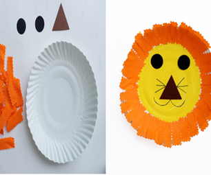 Art and Craft Activity: Paper Plate Lion