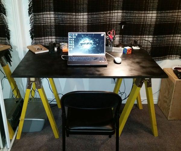 Sawhorse Desk on the Cheap