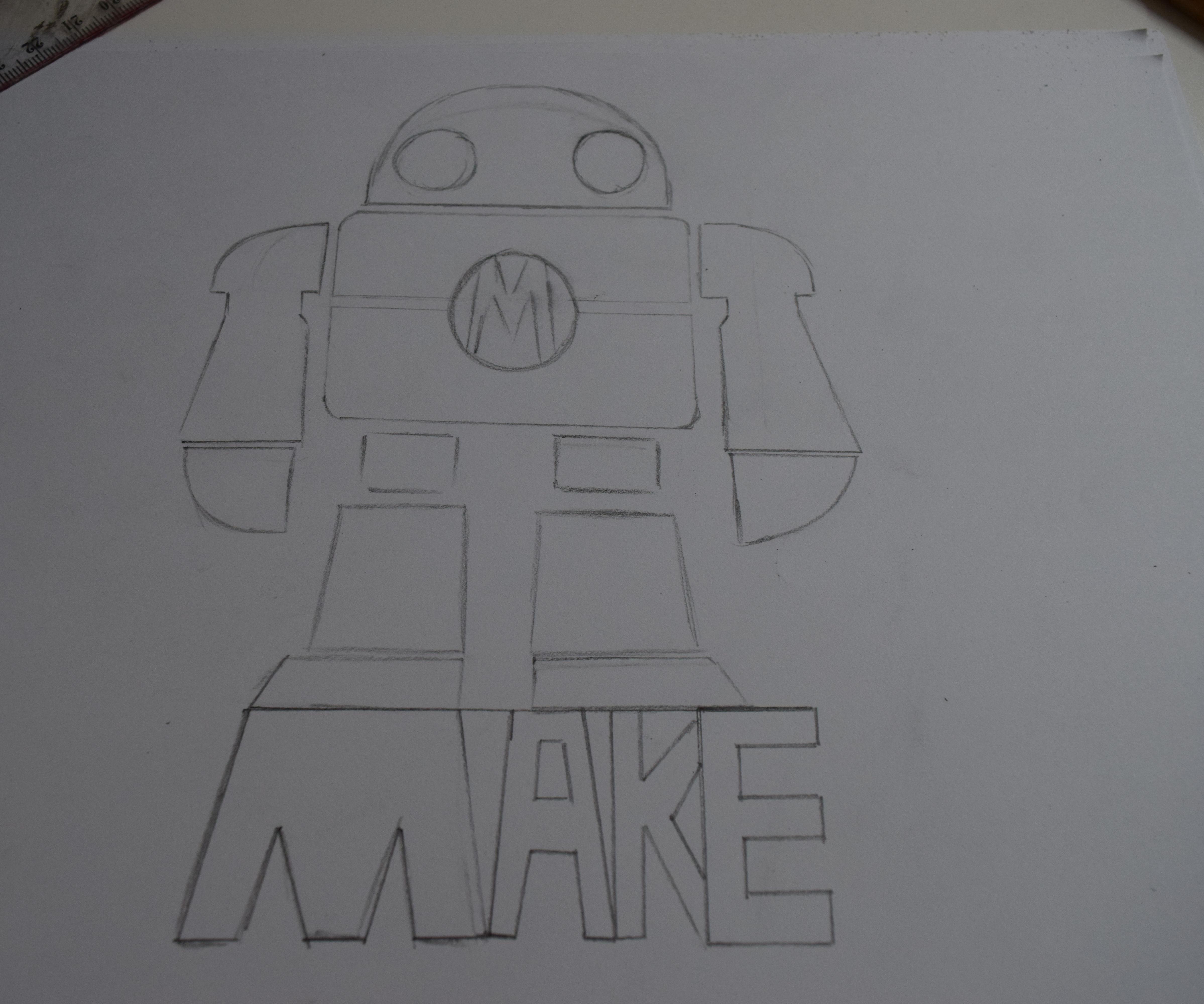 Como dibujar al robot de Make