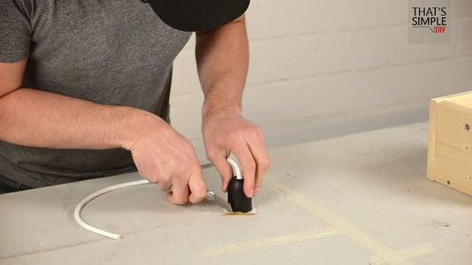 Diy Concrete Lamp 9 Steps With, Floor Lamp Concrete Base Repair
