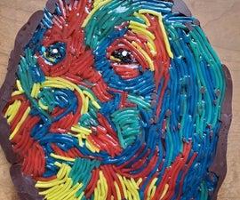 彩虹蕾丝糖果小狗设计