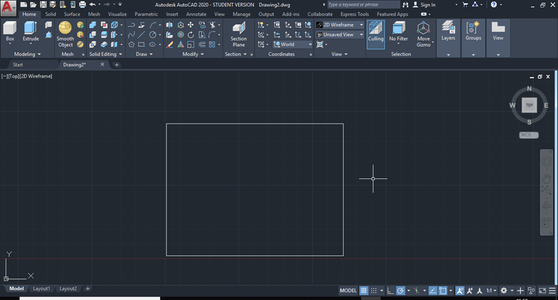 Setting Up the Base Rectangle With Desired Dimensions and Wall Thickness.