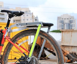 DIY Bike Rear Rack With a MAGNETIC U-lock Mount! (no Welding)