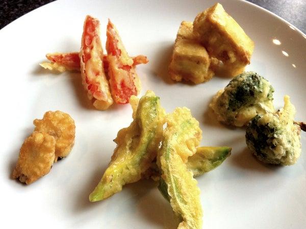 Tempura Vegetables and Tofu