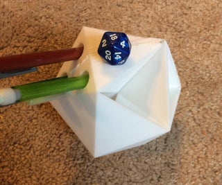 D&D D20 Dice Tower and Pencil Holder