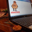 USB flash drive cereal and spoon cover