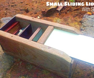 Small Slider Lid Box With Shelves
