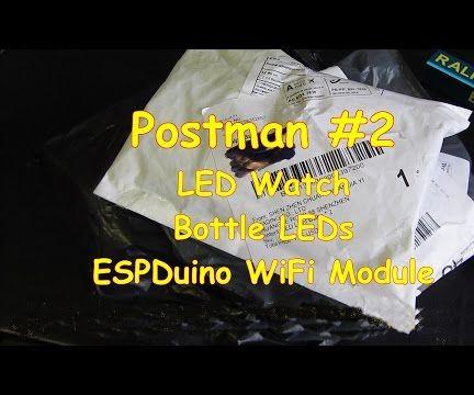 #12 Postman #2 Cork LEDs And Retro LED Watch, ESPDuino WiFi board